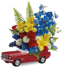Teleflora's '65 Ford Mustang Bouquet  from Carl Johnsen Florist in Beaumont, TX